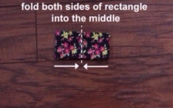 Fold from the outside in,once each side