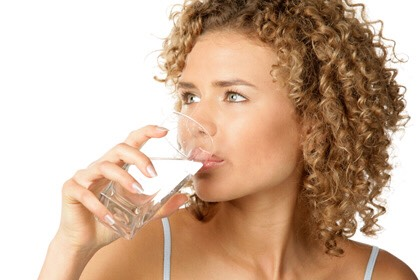 Every morning drink some salt water. This will act as a minor colon cleanse which will draw out toxins that infect your skin.