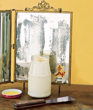 Mayonnaise as Adhesive Remover Banish stickers from mirrors, glass, and bumpers by applying a generous helping of mayo to persistent adhesives. Use a flexible putty knife to help coax them off.