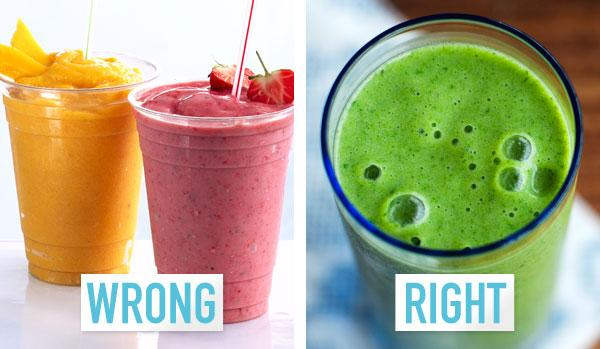 3. You only make fruit smoothies.