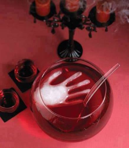 Freeze water in a surgical glove to make a scary ice cube