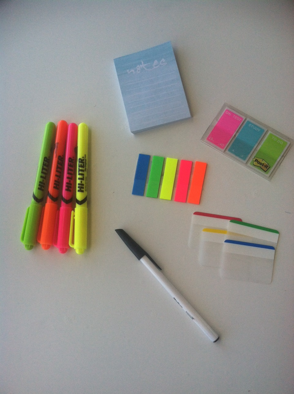 These are the products I use a lot for note taking. As you can see I really like post it's. I found all of these at Target.