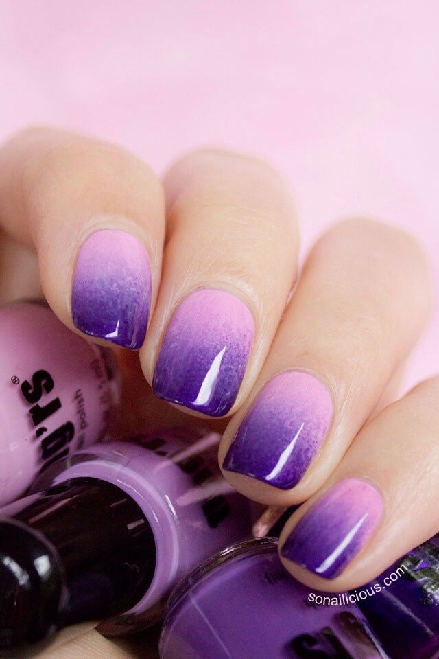 Musely ombr nails are easily done with a makeup sponge scroll for more prinsesfo Images