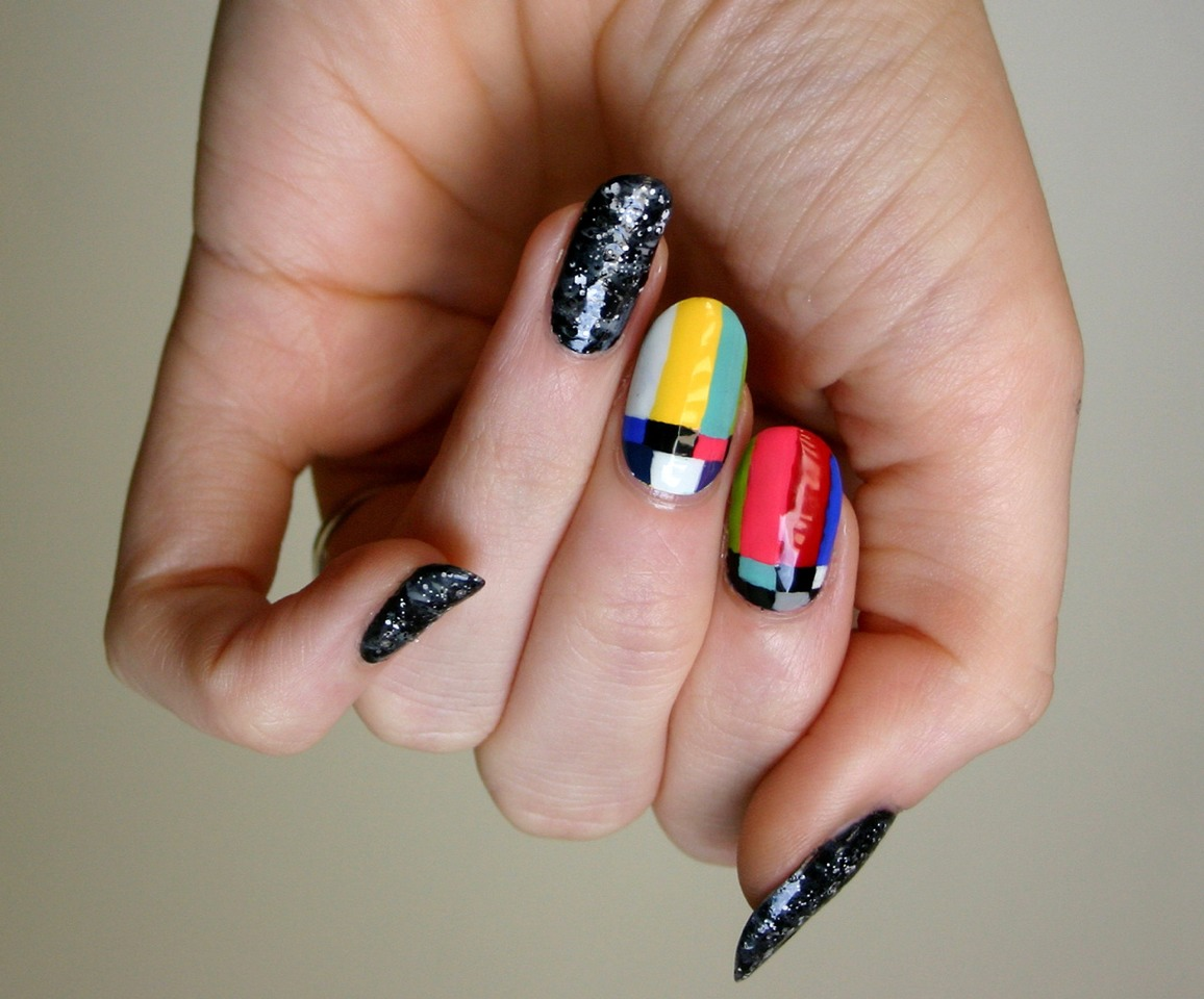 And if you don't like any of these shows, why not try out this fun manicure inspired by TV static? Super cute and easy!