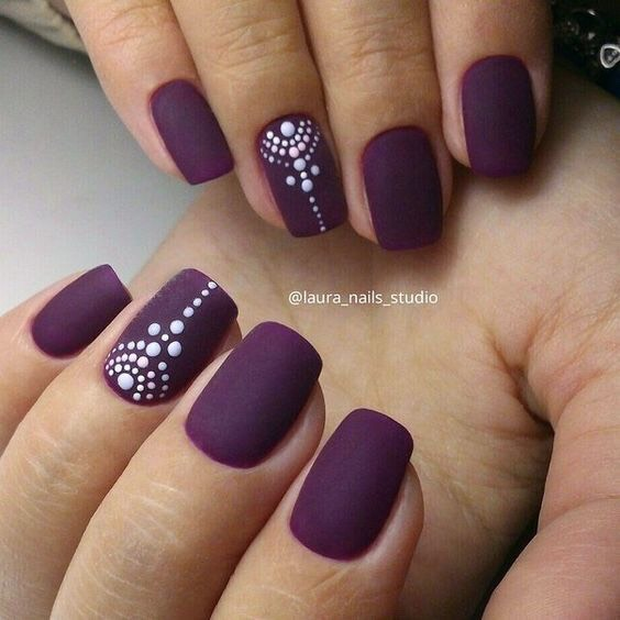 The simple color is so pretty! It's amazing what a dotting tool and two nail polish colors can do to a gal!