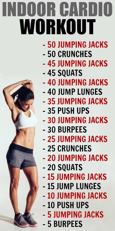 One of the best indoor cardio workouts, easy to do at home !!!