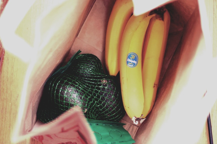 Need an avocado soft by dinner? Place a couple bananas along with your avocado in a paper bag for a few hours. The banana will speed up the softening process and your avocado will be ready when needed.  *this works with any fruit!