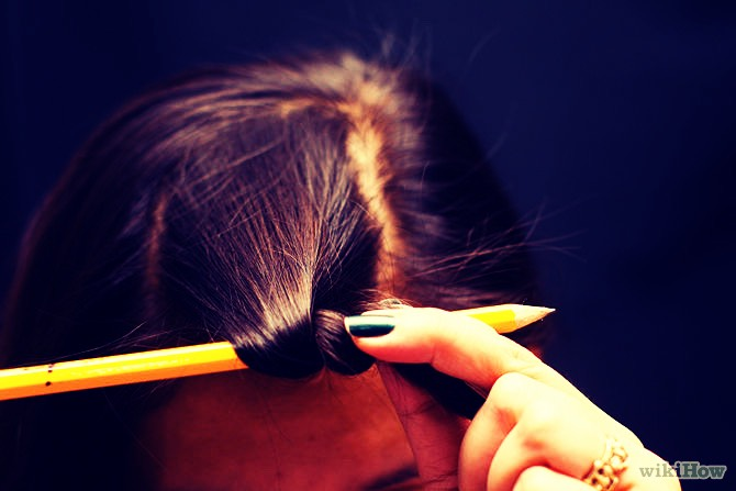 Then wrap your hair around the pencil  And if you want tight curls then just make sure there is no gap when you wrap it