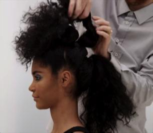(7)  Finish the look with a light mist of hairspray and you're good to go!
