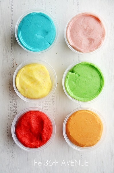 Notes *Don't feel like you need to use the full ⅔ Cup water. The amount you'll use will be between ½ and ⅔ of a cup. Store the playdough in an air tight bag or these small containers. This recipe will fill 6 {2 oz.} mini cups.