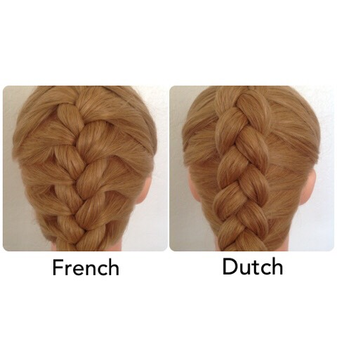 The difference  * tips before we start:       1 add gel or mouse of some sort to have less fly aways       2 try to do it tight so when u r done braiding you can pull it looser to make your hair/braid look thicker