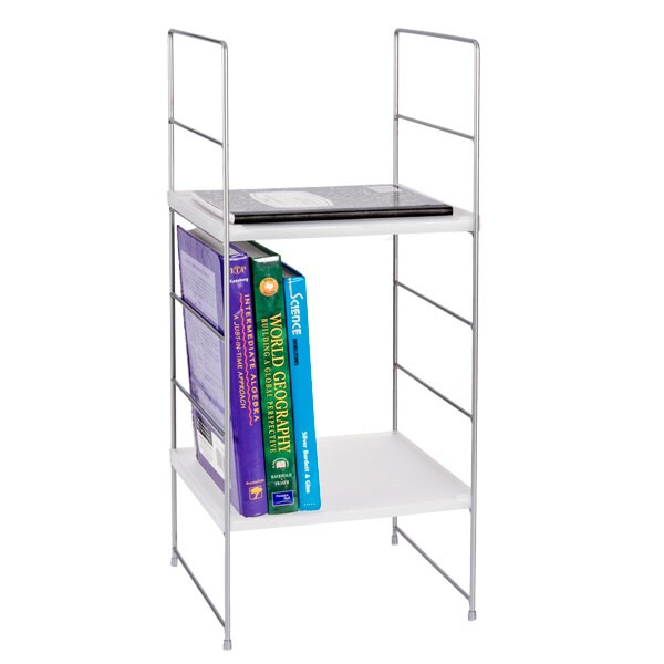 So first of all before you put ANYTHING in you locker, you need a locker shelf. If you have a smaller locker like me, then you can easily divide the locker and be able to have more space for your stuff!