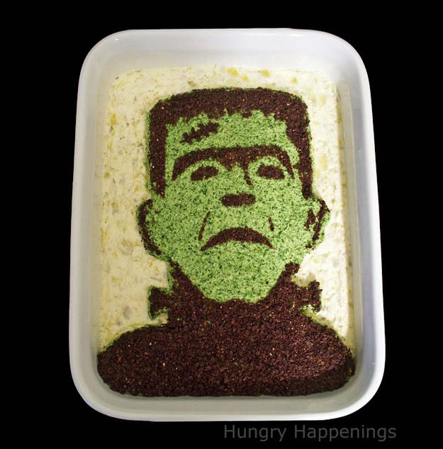 Portrait of a Monster Dip  Edible ART  http://www.hungryhappenings.com/2011/09/recipe-excerpted-from-my-cookbook.html