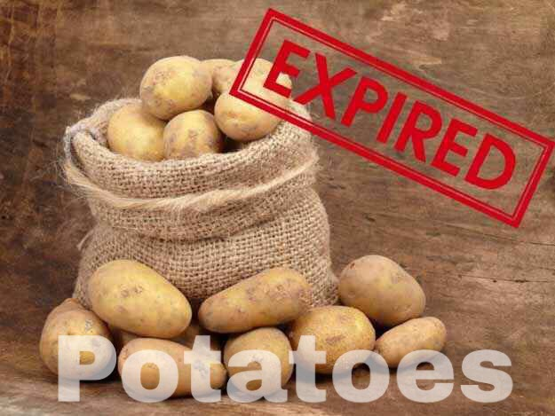 Solution: Don't eat green (unripe) or sprouted (overripe) potatoes; store potatoes in a cool, dark place.