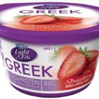 Strawberry Greek yogurt (80 calories