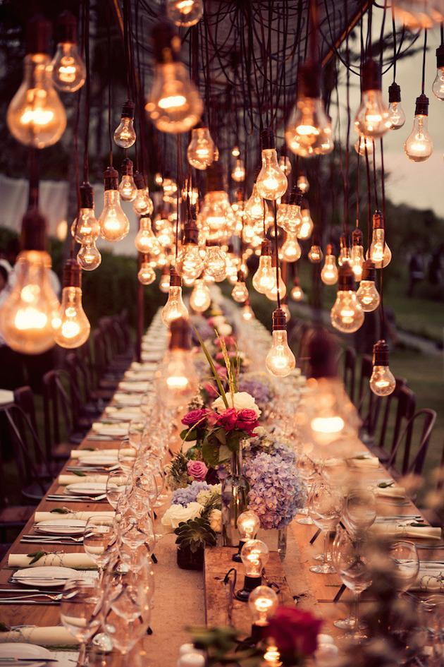 1. All The Lights:ighting is perhaps the one element that can transform the feel of ur wedding instantly. Whether u have a budget for lighting production, u speak to ur venue about what they can offer or u simply reuse ur fairy lights from Christmas, will work wonders on romancing your guests.