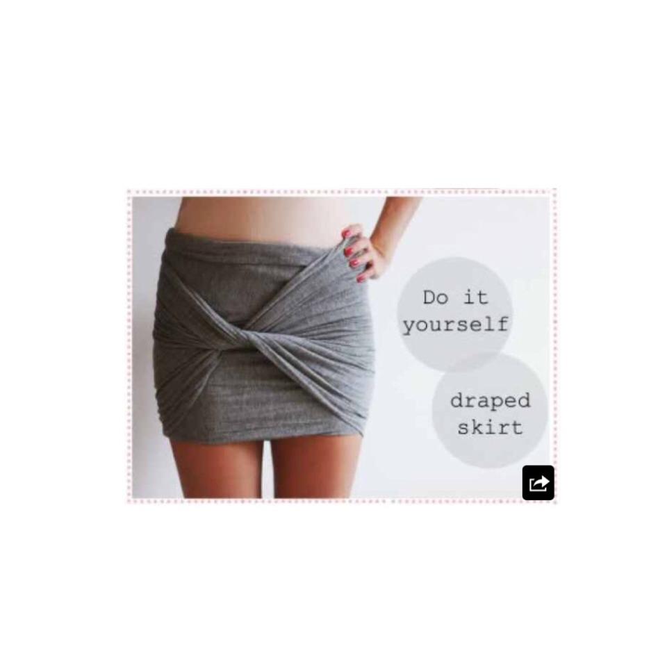 Adorable No Sew Skirt http://www.nsmbl.nl/1-minute-diy-van-shawl-naar-gedrapeerd-rokje/?utm_source=dlvr.it&utm_medium=twitter