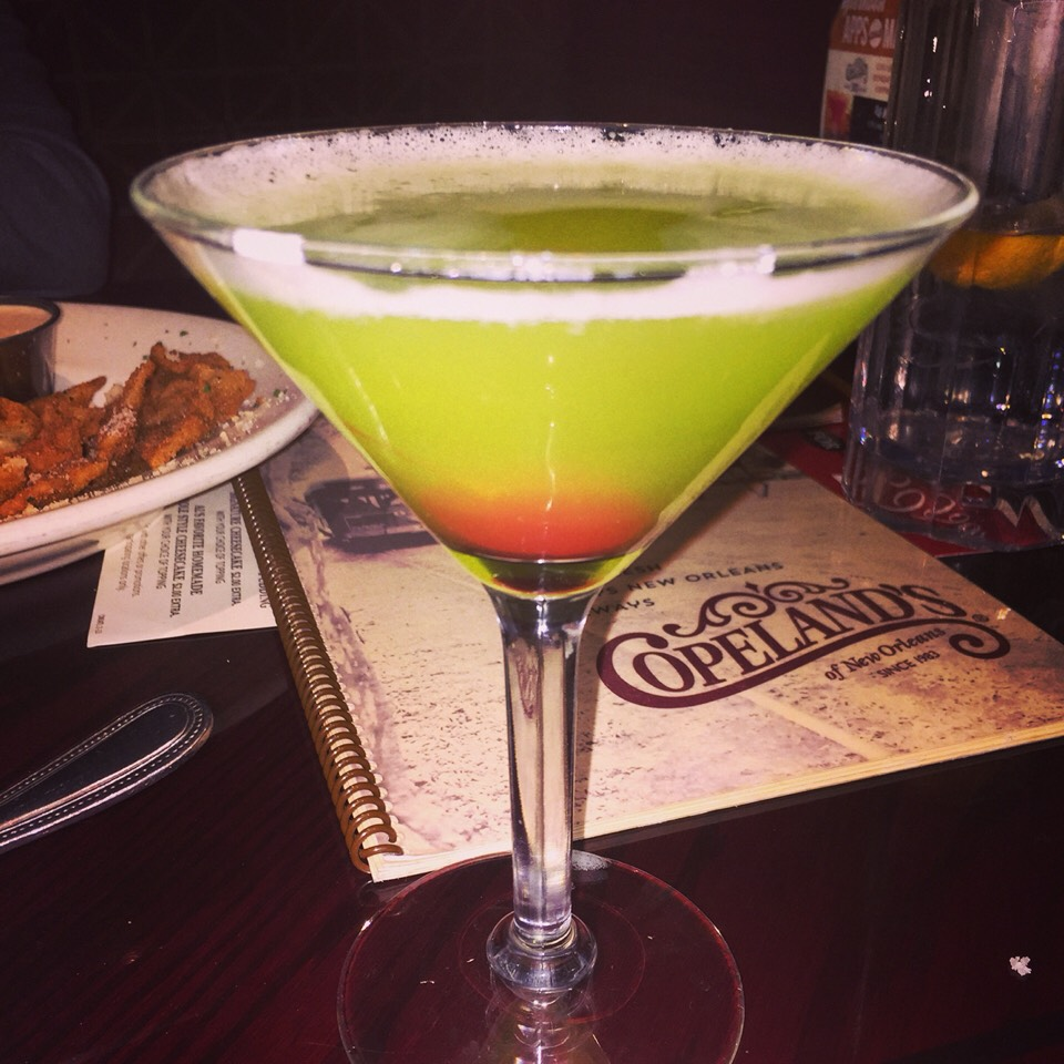 1. Order a fancy drink! (Pictured: Copeland's Appletini)