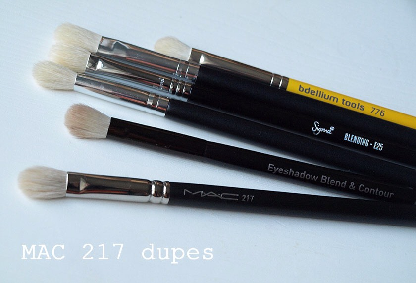 These are a few dupes for the Mac 217 brush