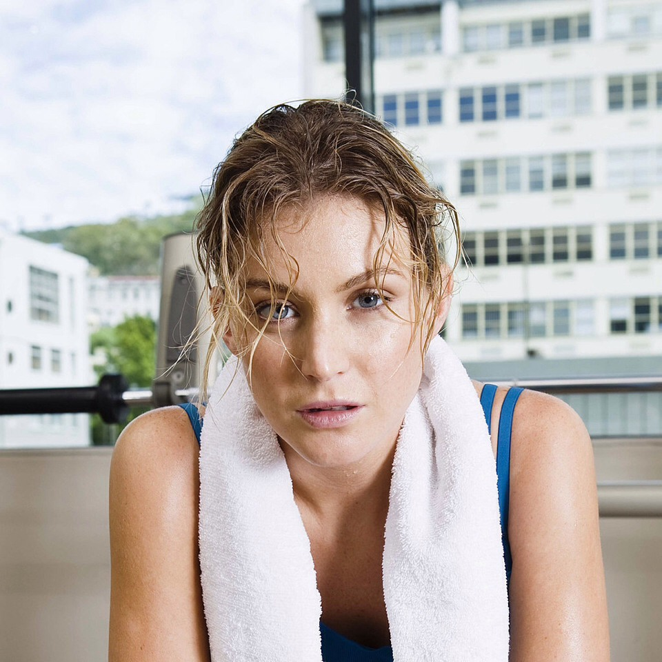 Rinse your face after a workout to remove sweat, grime and blemish causing bacteria.