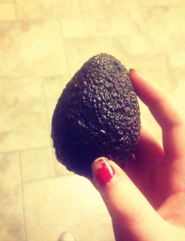 You will need, half an avocado (they only cost about a pound/dollar in supermarkets!)