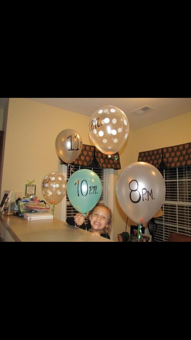 Pop balloons at different times to find out what it says inside