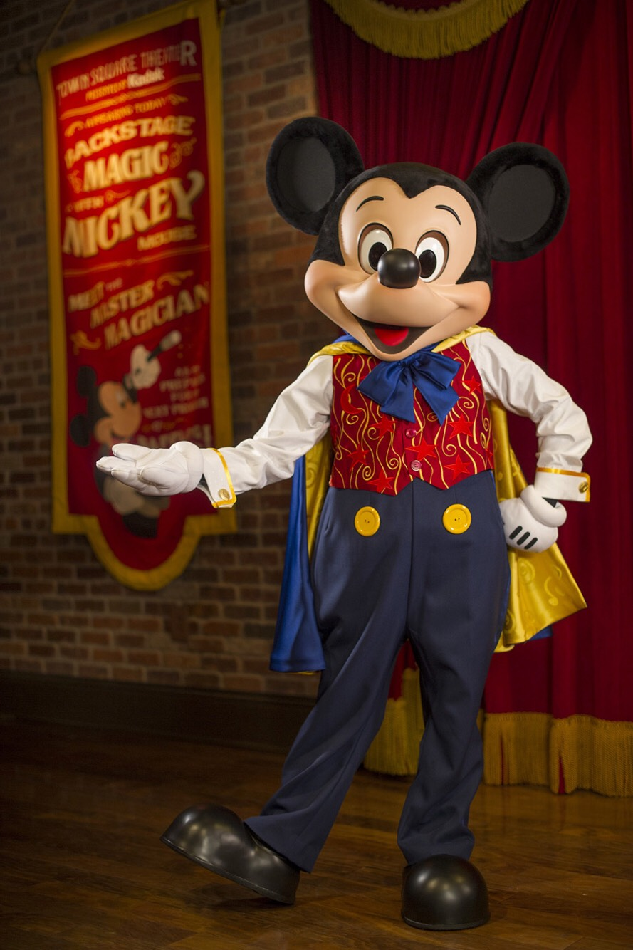 Mickey Mouse Found in the Town Square Theater on Main Street.