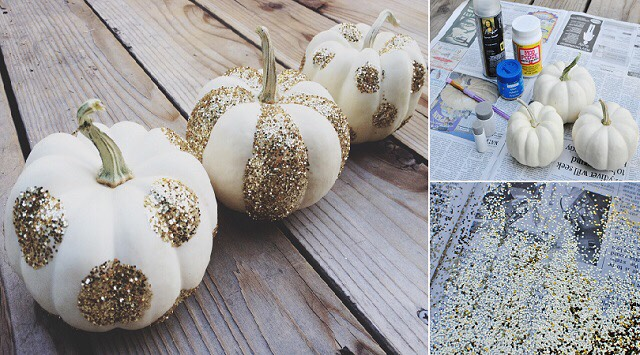 Just in time for halloween!!  http://www.goodshomedesign.com/how-to-make-glittered-pumpkins/