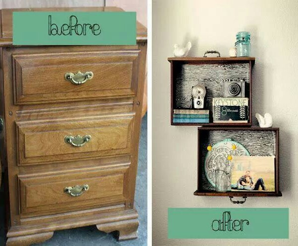 DIY decorate your wall with old furniture