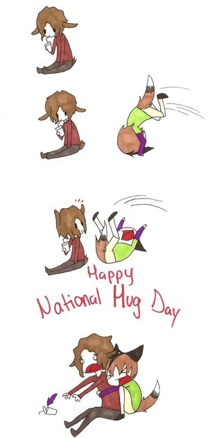 NATIONAL HUG DAY- Jan 21st 😁 (The day to hug random strangers without being judged! But hug accordingly)