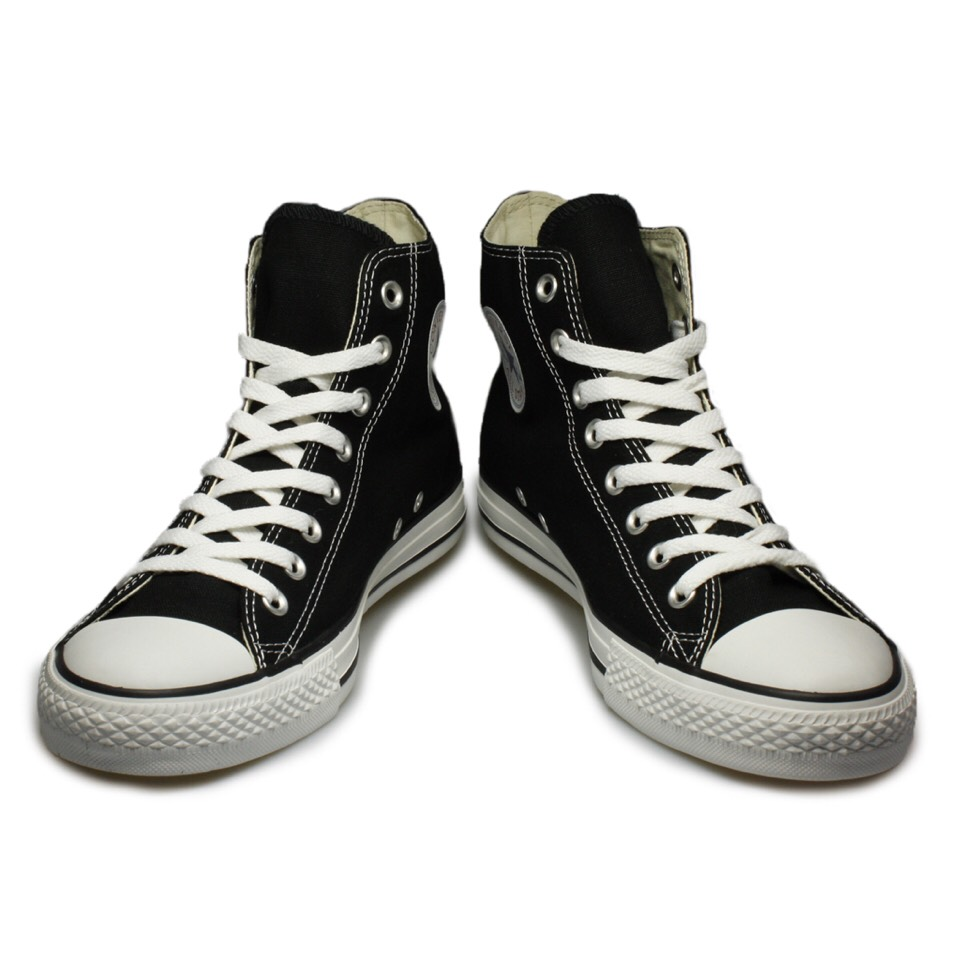 If your going casual, you should keep the casual effect going all the way down to the shoes. Black converse sneakers go with well.. Pretty much anything!