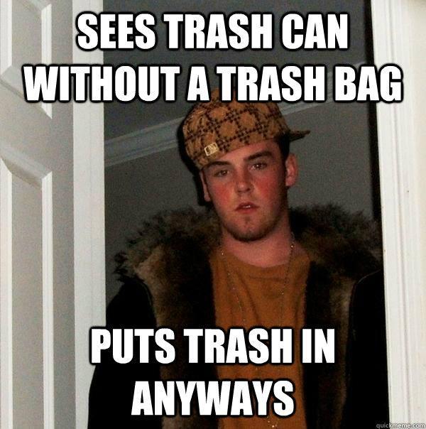 This trashy guy...