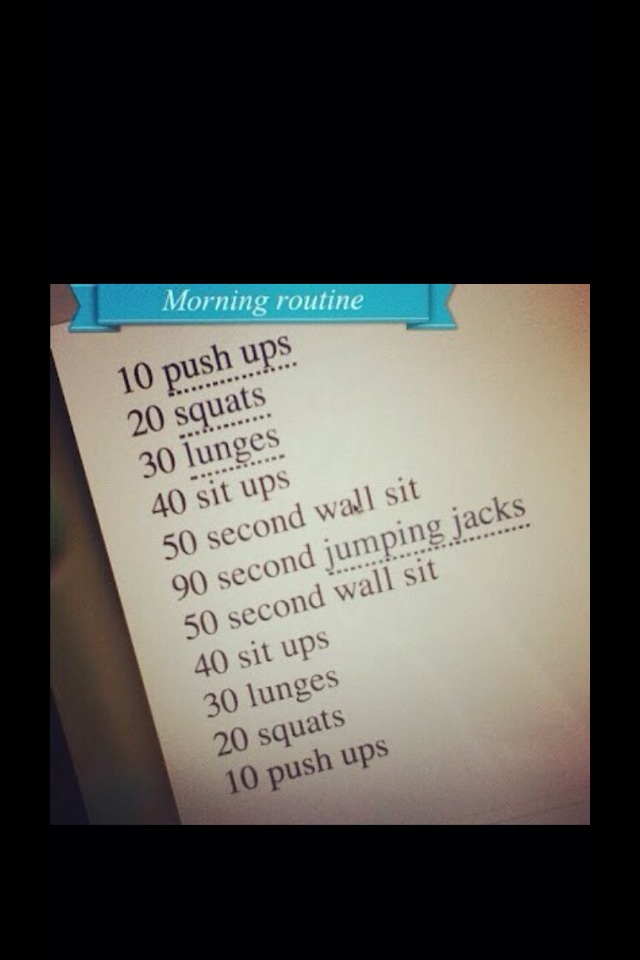 Have a morning workout💪🌄