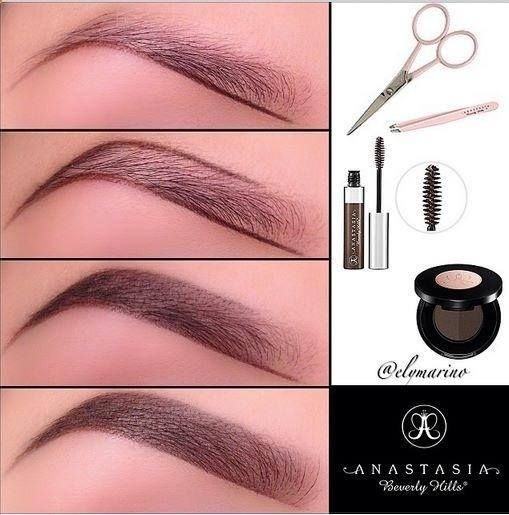 1⃣ First underline the bottom of your brow try to follow your natural shape  2⃣ Now line the top of your brow and create your arch   3⃣ Start to fill in the rest of your brows  4⃣ Then lightly fill in the front with the lighter side of the duo   5⃣ Finally set your eyebrows with the brow gel!