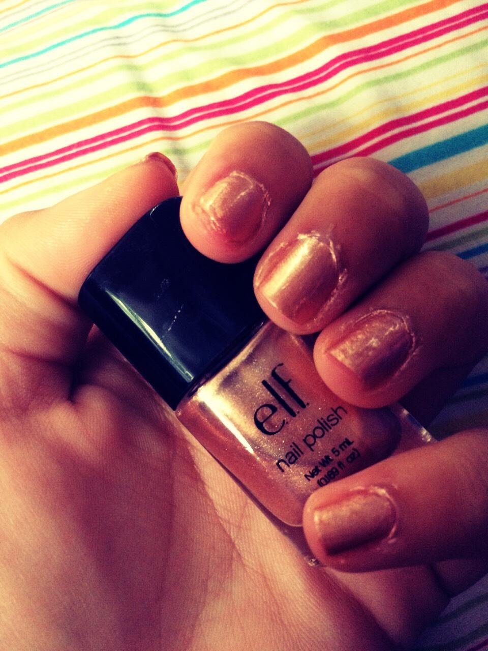 Apply 2 coats of nude polish
