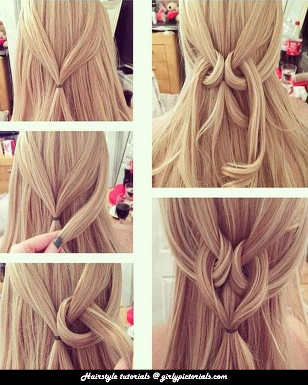 This Twisted Heart Hairstyle Idea is so stylish & innovative for girls.For more hairstyle tutorials visit http://girlypictorials.com/
