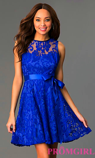 Cerulean A-Line Lace Dress