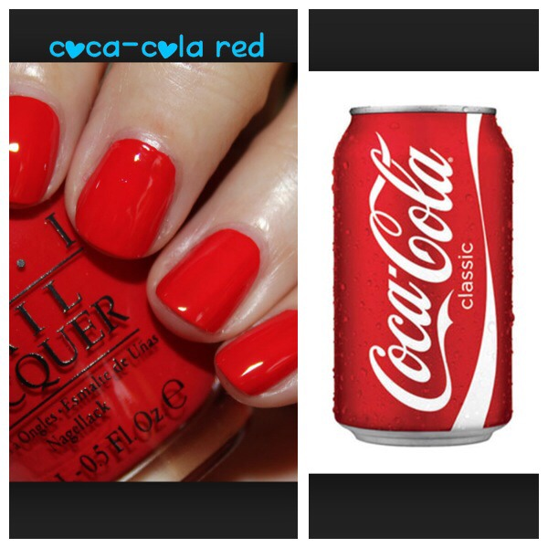 Here are the new OPI colors with their Coke inspirations. Double-click to see them fully ☺️