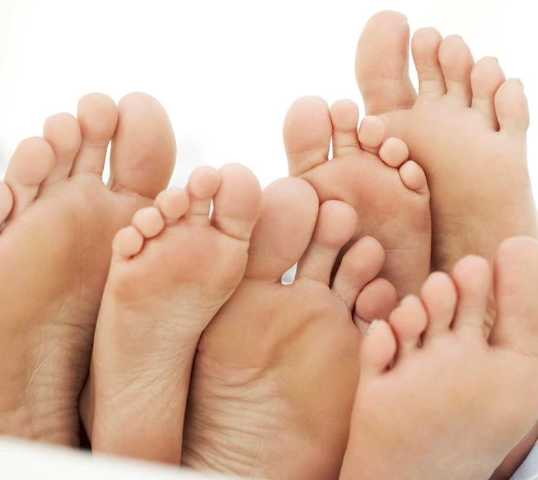Put vasaline on your whole foot. Both feet! Then put socks on over them overnight and take a shower and wash the off in he morning and your feet will be extra soft!