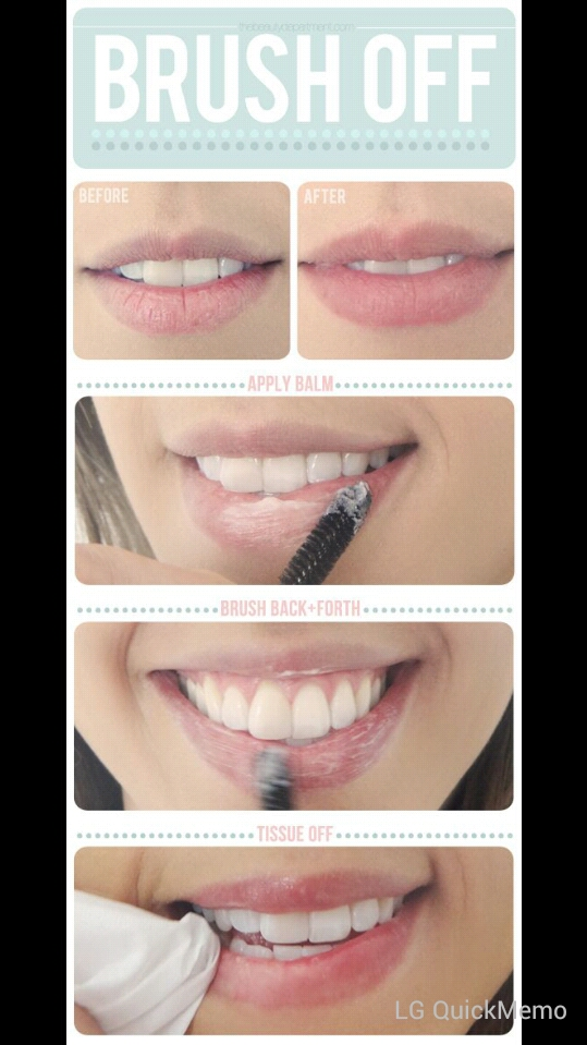 I personally use my toothbrush, I found it is more efficient. This is probably the easiest trick. :)