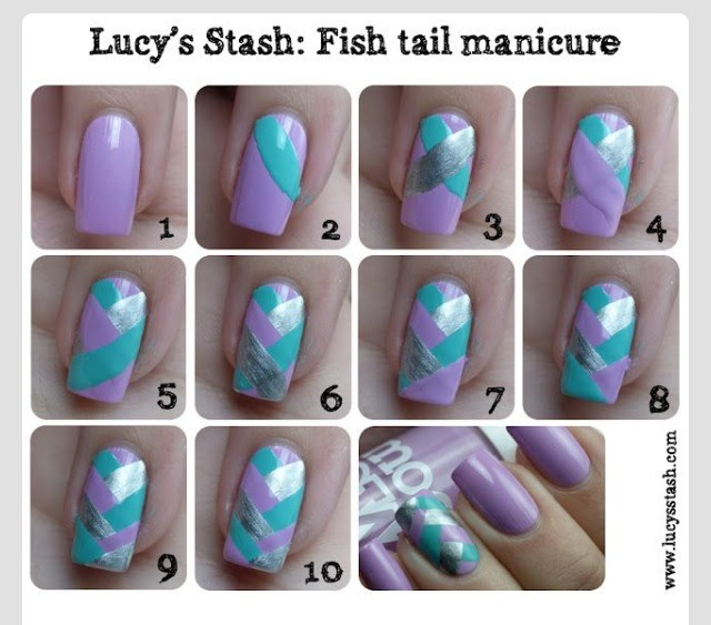 Step by step tutorial. Choose your own colours!