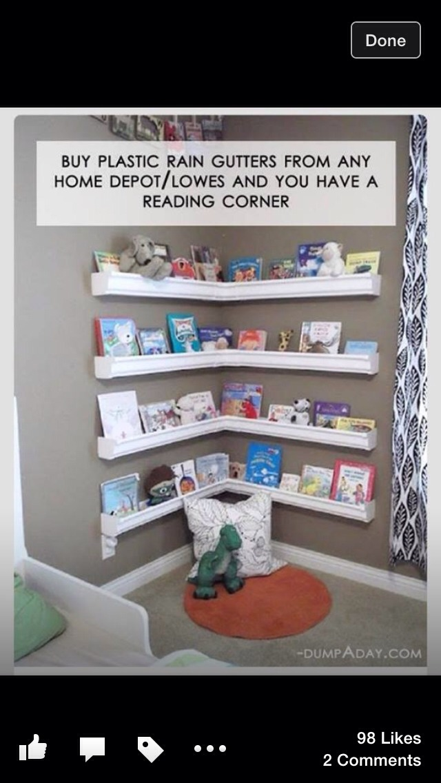 Super cheap and cute way to store kids books and/or pictures!