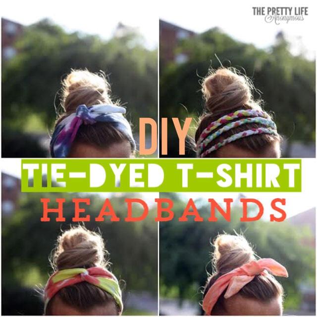1. DIY tie dye t-shirt headband