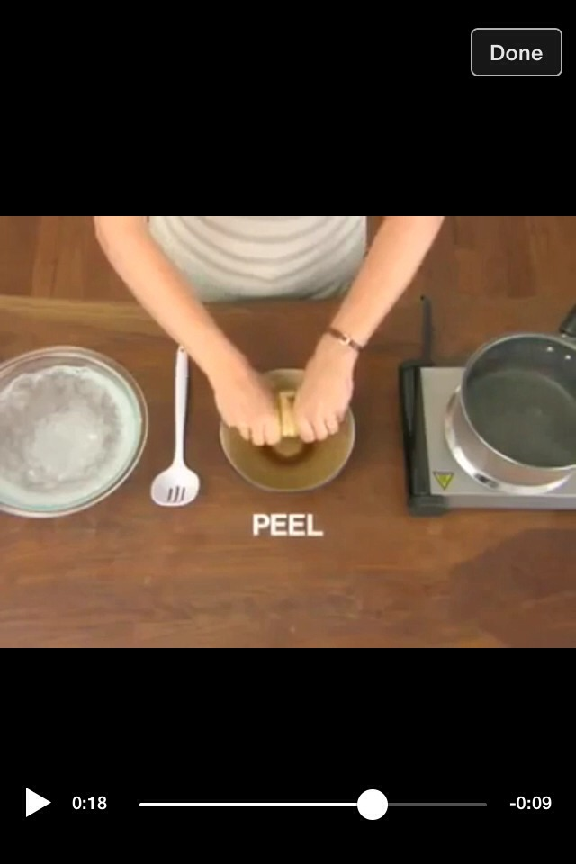 Step five: pull and peel