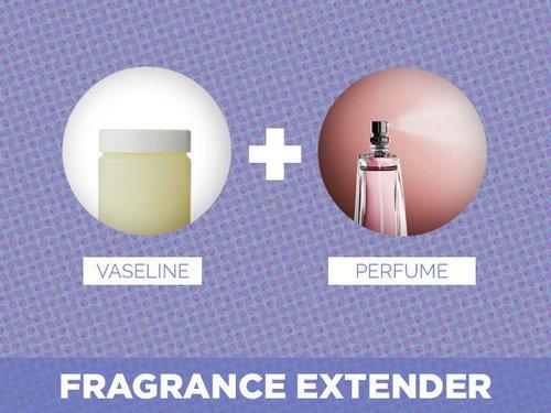 The Vaseline will make your perfume last longer