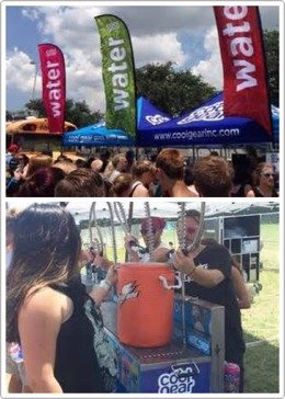 2.   BRING A REUSABLE WATER BOTTLE   water is super duper important at warped. warped also has water re-fill stations where you can fill up your water bottle for free.  they also sell warped tour water bottles that you can buy as a memento or incase you forgot a water bottle.