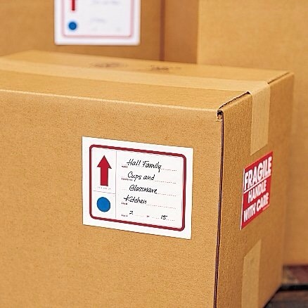 5. In addition to labeling what's in your boxes, add what room they'll be going into, as well.
