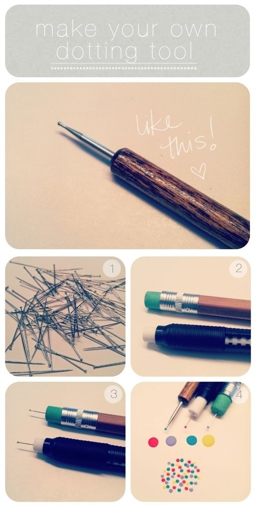 Pencil away with this great tip by sticking a pin, nail or needle into the end of a pencil's rubber.