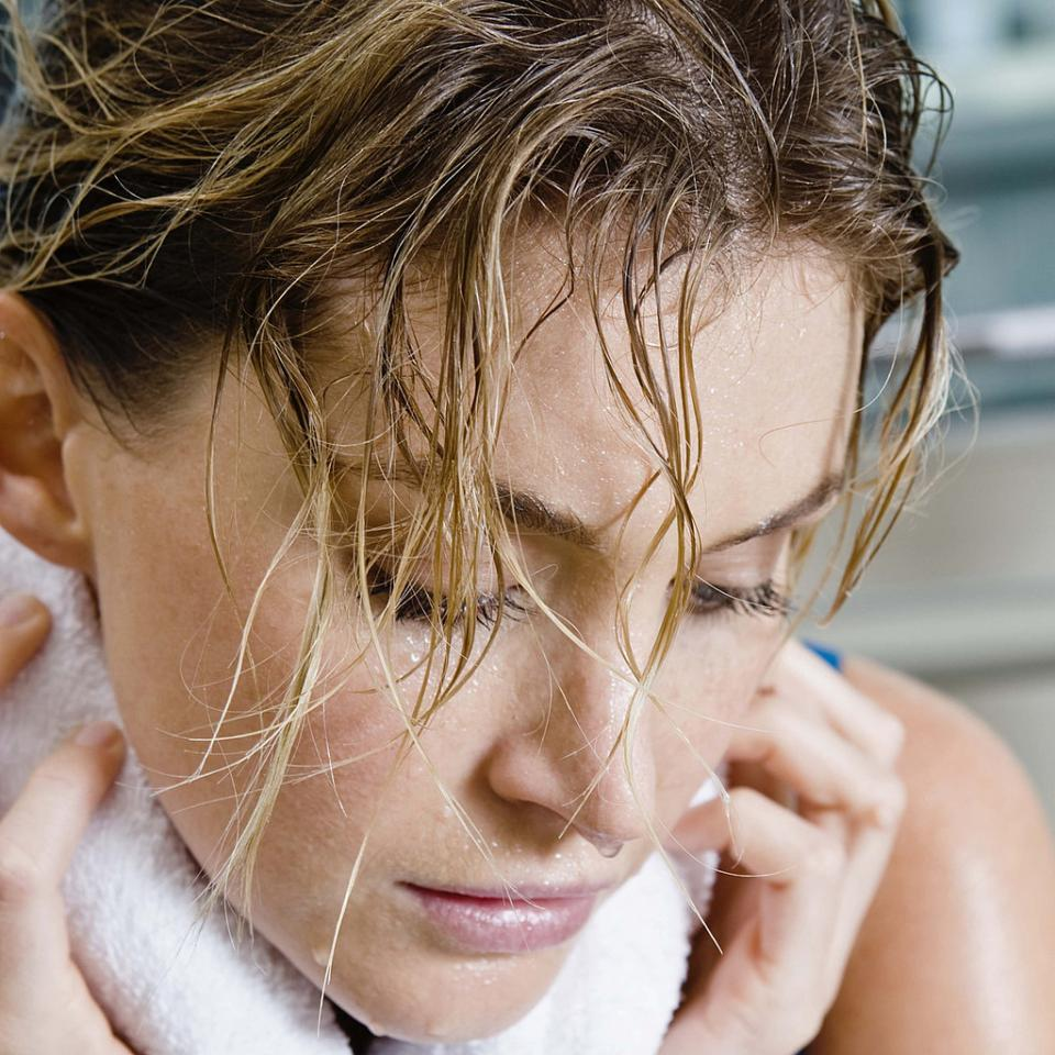3. Hair: apply a veil treatment. I love how a light oil sinks into my ends after a hot workout!
