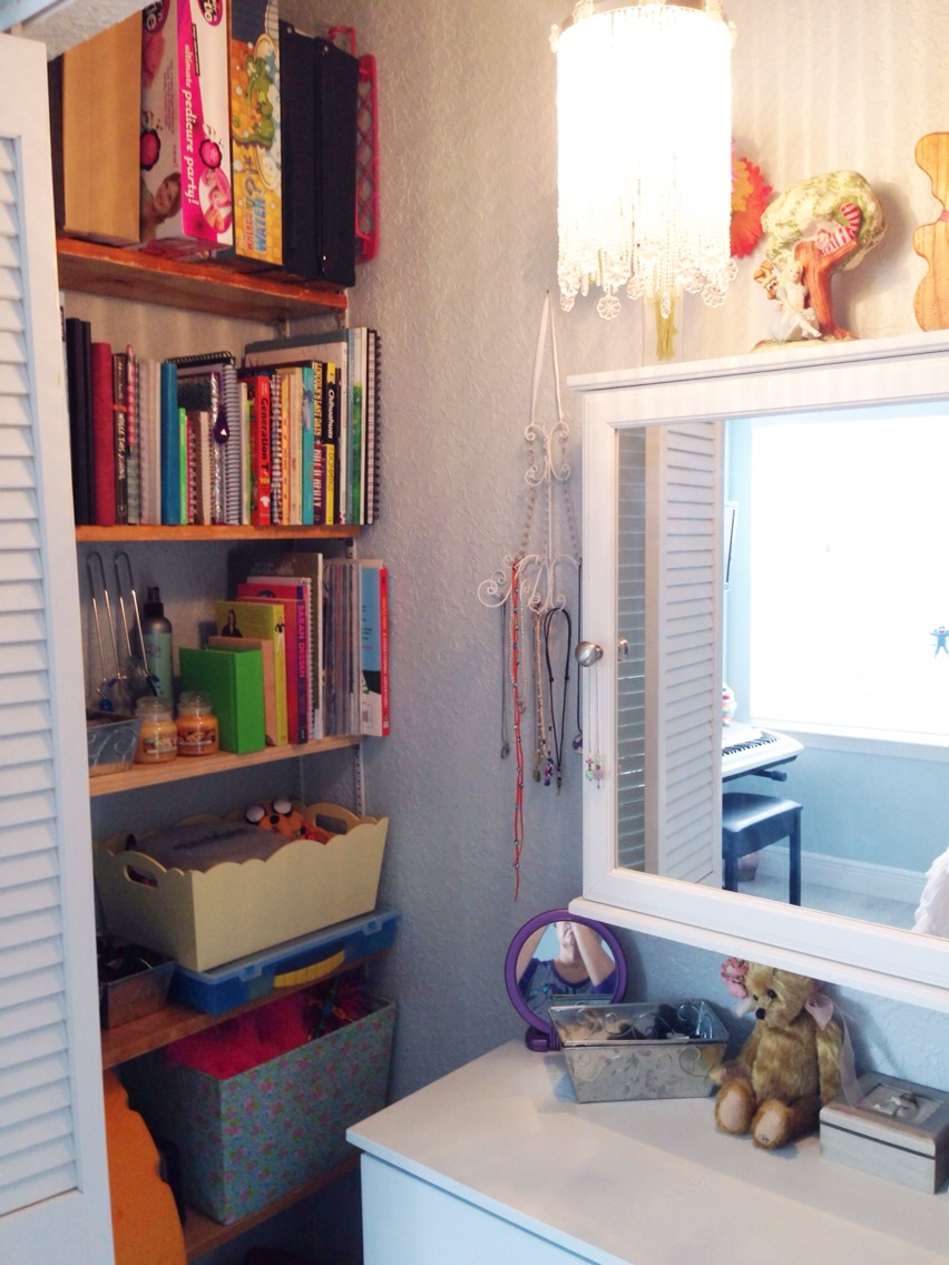 It's surprising how much room is in a standard closet!